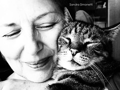 Tenerezza (sandra_simonetti88) Tags: tender sweet sweetness tenerezza mamma mum gatto cat cats bn bw bianconero portrait portraits animali pets pet animale primopiano