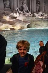Everett At The Trevi Fountain (Joe Shlabotnik) Tags: 2016 italy italia trevifountain roma justeverett march2016 rome everett fountain afsdxvrzoomnikkor18105mmf3556ged