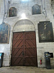 St. Trophime church (AmyEAnderson) Tags: indoor church sttrophime france europe arles bouchesdurhone provence historic roman romanesque paintings door wood stone architecture