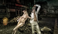 forgotten town (Luca Arturo Ferrarin) Tags: secondlife cool beautiful love couple forgotten town bike ruins everwinte
