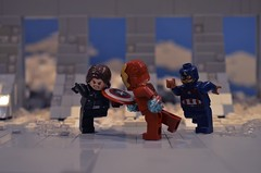 Captain America Civil War- Final Fight (Brickwielder) Tags: lego captain america civil war ironman winter soldier steve rodgers bucky barnes tony stark marvel mcu studios siberia bunker hydra scene