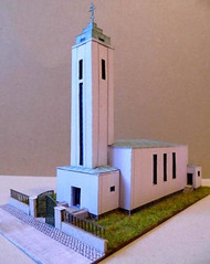 Sbor Mistra Jakoubka ze Stbra Free Church Paper Model Download (PapercraftSquare) Tags: 1125 buildingpapermodel church sbormistrajakoubkazestbra