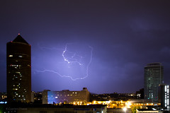 Thunderstorm in Lyon (cypriencharra) Tags: storm sky thunder summer lyon night thunderstorm sthunderstorm clair city downtown light weather europe france