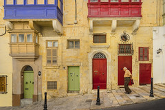 A stroll through Valletta (johnnyarmaosphotography) Tags: malta valletta streetphotography primarycolors capturethemoment europe mediterranean maltese eu knightsofstjohn
