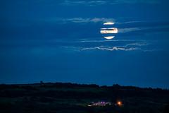 Harvest Moon (ianbonnell) Tags: billinge billingehill billingebeacon sthelens merseyside rainford moon moonrise harvestmoon england uk clouds
