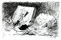 Wolfram Zimmer: Leave - Verlassen (ein_quadratmeter) Tags: wolfram zimmer bilder kunst malerei zeichnung images foto photo fotos photos gemlde wolframzimmer konzeptkunst objektkunst meinzimmer freiburg burgbirkenhof kirchzarten ausstellung ausstellungen pinsel tusche ink dessin exhibition exhibitions drawing landschaft landscape improvisation