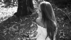 252/366: white rays (Andrea  Alonso) Tags: me selfportrait autorretrato 366 365 portrait retrato blackandwhite blancoynegro bw