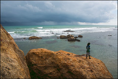 Jump.  Galle (Claire Pismont) Tags: asia asie srilanka galle jump cliff sea rock documentory clairepismont colorful couleur color colour pismont travel travelphotography