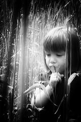 Don't tell (Timmermans CMJ) Tags: white black girl field child finger hide silence seek sst