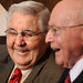 Bill Friday and Shorty Barnes share memories of their days at NC State.ALUMNI.prez.4142