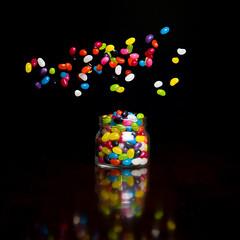 The Cloud (Tim Archer Photos) Tags: black colors studio nikon colorful colours flash jar colourful lollies jellybeans d600 offcamera freezeaction