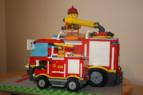 Cake & Lego Fire Truck Comparison I