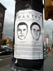 Obama and Romney wanted poster, Brooklyn, New York, USA (gruntzooki) Tags: nyc newyorkcity ny newyork sign brooklyn election politics obama romney piratcinematour