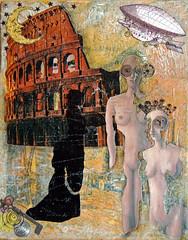 Post-Apocalyptic (CocoRae28) Tags: art collage mixedmedia foundobjects darkarts nondigitalart