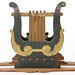 167. Antique Lyre Form Music Stand