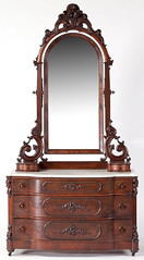 1. Impressive Victorian Marble Top Dresser with Mirror