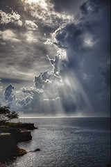 Jamaica near Negril after the Thunder Storm (Klaus Ficker) Tags: sun storm rain clouds canon eos hotel jamaica thunderstorm rays rockhouse negril mygearandme mygearandmepremium mygearandmebronze mygearandmesilver mygearandmegold mygearandmeplatinum mygearandmediamond klausficker