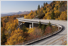 The Linn Cove Viaduct ([Christine]) Tags: autumn fall northcarolina linville foliage blueridgeparkway grandfathermountain linncoveviaduct