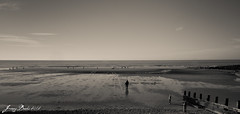 the beach (jonny violence yeah?) Tags: blackandwhite bw white black beach canon rebel seaside whitehaven solway stbees 500d kissx3 t1i