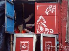 The other side of Goddess (AmitabhaGupta) Tags: festival clay idol kolkata darkside calcutta durgapuja diety kumortuli