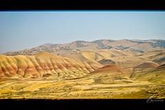 John Day, Painted Hills (Chiara Salvadori) Tags: ranch travel wild usa west nature colors oregon landscape meadow landmark western paintedhills grassland johnday johndayfossilbedsnationalmonument