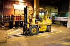 Big Fork Lift (simonjames2) Tags: old nottingham uk england industry yellow truck work industrial wear worn trucks coventry forks 107 forklift venerable climax heavyduty chocks forktruck coventryclimax 60da forktrucksuk
