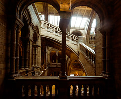 Natural History Museum, London 2012 (lambertwm) Tags: london architecture stairs balcony railing hogwarts naturalhistorymuseum architectuur londen alfredwaterhouse germanromanesque harrypottermovieset