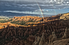 Nature Offered A Pot Of Gold (Explore October 27, 2012) (rschnaible) Tags: park red usa southwest west rain rock utah us rainbow day desert canyon double explore national western hoodoo bryce canyons hdr hoodoos explored mygearandme mygearandmepremium mygearandmebronze mygearandmesilver mygearandmegold nrpad