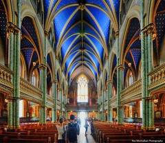 into the light (Rex Montalban Photography) Tags: church cathedral ottawa notredame hdr photomatix rexmontalbanphotography pse9 photoshopelements9