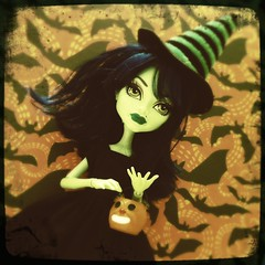 Bewitching (welovethedark) Tags: halloween witch trickortreat bats iphone iphonecamera iphonecameraapps createamonster hipstamatic monsterhigh