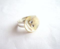 Upcycled ring (d'ekoprojects) Tags: recycled handmade ring ecofriendly handmadejewelry ecofashion upcycled ecochic handcraftedjewelry recycledjewelry buttonjewelry ecofriendlyjewelry upcycledjewelry