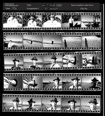 Contact Sheet 365 Days (Year 6) #366 10/31 (randeclip) Tags: bw white black film me club self day image group days negative strip multiple sheet contact 365 portrate