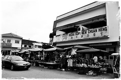 New Chuan Heng Coffee Shop (J2Kfm) Tags: bw photography market streetfood ipoh perak pasirputeh