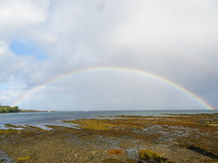 Rainbow, Broadford, Isle of Skye, September 2012 (allanmaciver) Tags: skye rain weather clouds rainbow holidays tide stormy september full delight enjoy broadford 2012 admire allanmaciver