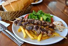kuzu sis (Ian Riley [on the right side of the fence]) Tags: food turkey lunch islands salad asia istanbul chips lamb sis princes turkish büyükada prens adalar kuzu adaları