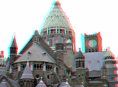 St-Bavo Haarlem 3D (wim hoppenbrouwers) Tags: tower haarlem 3d cathedral kathedrale anaglyph stereo jos koepel cuypers basiliek stbavo stereopicture joscuypers