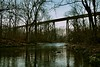 at Pope Lick Train Trestle - 4 (System58.photos by David Alan Kidd) Tags: railroad morning trestle bridge reflection tree industry nature water lines creek canon rust skies peace map decay kentucky ky wide january calm louisville tone hdr baretree jeffersoncounty 2013 hdrtist popelick