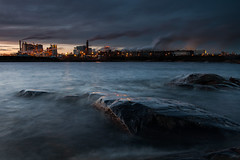 Pollution (- David Olsson -) Tags: winter sunset lake seascape cold industry water dark landscape lights lowlight nikon rocks factory sundown sweden dusk smoke tripod january windy cliffs filter pollution bluehour dim grad hitech chimneys vnern storaenso hammar vrmland 1635 1635mm lakescape gnd skoghall 2013 environmentaldegradation d5000 09hard skoghallsverken 1635vr skoghallsbruk grytudden