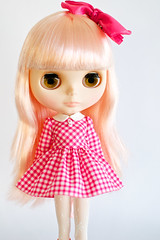 Pink Gingham School Uniform Dress