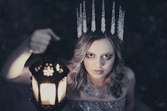 Ice Queen (Liz Osban Photography) Tags: film ice pale queen lantern icicles