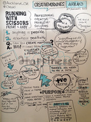 Creative Mornings: Running With Scissors (jamjar) Tags: happiness auckland runningwithscissors sketchnotes creativemornings
