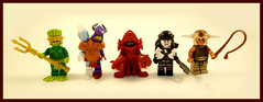 Vile Creatures of Brickdom (Hammerstein NWC) Tags: brick chaos lego vampire atlantis fantasy axe custom flippers ogre fishman assassin merman trident arealight chaosspawn zarg brickforge slavers wwhip arealightcustoms brickwarriors brickdom
