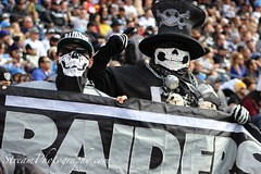 Oakland Raider Fans (StreamPhotography) Tags: skulls oakland football team nfl fans blackhole raiders oaklandraiders raidernation nflteam blackandsliver