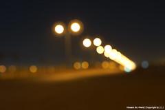 Night at the street (Hosam AL-Hwid) Tags: street light test blur lamp yellow night dark sony hexagonal saudi arabia a77 hosam alhwid