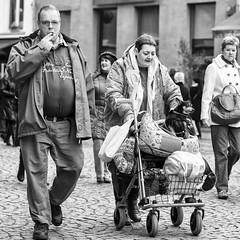 shopping (Gerard Koopen) Tags: bw dog shopping belgium belgie streetphotography antwerp antwerpen straatfotografie 2013
