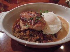 Poulet en cocotte (kevincrumbs) Tags: food chicken portland egg risotto cocotte poulet farro poachedegg northeastportland chickenconfit farrorisotto