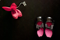 DSC_0405-1 (Simona Ray) Tags: pink red black flower catchycolors paper still shoes polka dots