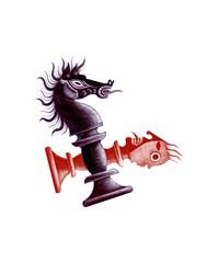 Ajedrez (pedro_tornero) Tags: wood horse art film animal kids illustration de arte folk cartoon picture chess folklore cine pedro animation celtic draw popular dibujo diseo bishop desgin animacin celta ilustracin tornero