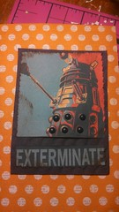 Dalek ATC (Paper on Steroids) Tags: art artist who dr card doctor swap trading dalek bot exterminate swapbot
