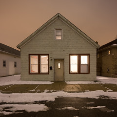 At Night (metroblossom) Tags: house building night square indiana photograph bp residential refinery e1 whiting almostthere ktq kartemquinfilms northwesternindiana whitingrefinery img903567
